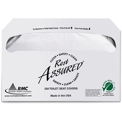 RMC Toilet Seat Covers - Half-fold - 250 / Pack - 1000 / Carton - Paper - White