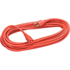 Fellowes Heavy Duty Indoor/Outdoor 100' Extension Cord - 125 V AC Voltage Rating - 13 A Current Rating - Orange