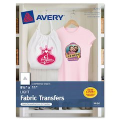 "Avery Iron-on Transfer Paper - Letter - 8.50"" x 11"" - Matte - 6 / Pack - Clear"