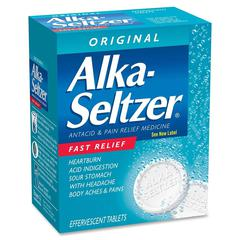 Alka-Seltzer - For Acid Indigestion, Headache, Heartburn, Sour Stomach, Pain - 36 / Box