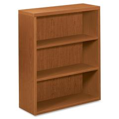 "HON Valido Bookcase - 36"" x 13.1"" x 43.6"" - 3 Shelve(s) - Ribbon Edge - Material: Particleboard - Finish: Bourbon Cherry, Cherry, Laminate"