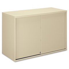 "HON Overfile Storage Cabinets - 42"" x 18"" x 27.9"" - 2 x Shelf(ves) - 2 Door(s) - Lateral - Security Lock - Putty - Steel - Recycled - No"