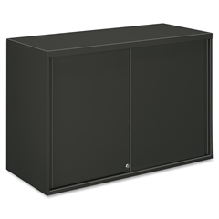"""HON Overfile Storage Cabinets - 42"""" x 18"""" x 27.9"""" - 2 x Shelf(ves) - 2 Door(s) - Lateral - Security Lock - Charcoal - Steel - Recycled - No"""