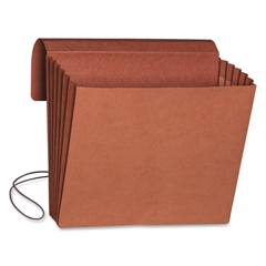 "Redrope Expanding Wallets with Elastic Cord - 9 1/2"" x 11 3/4"" Sheet Size - 5 1/4"" Expansion - Redrope - Redrope - Recycled - 10 / Box"