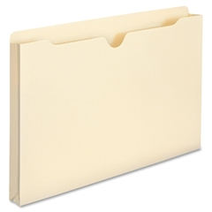 "Smead Manila File Jackets - Legal - 8 1/2"" x 14"" Sheet Size - 1"" Expansion - 11 pt. Folder Thickness - Manila - Recycled - 50 / Box"