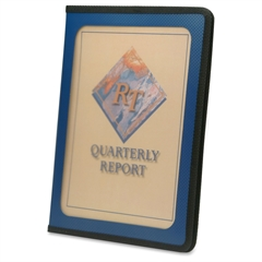 """Smead 85848 Blue Poly View Front Pad Folios - Letter - 8.50"""" x 11"""" Sheet Size - Inside Front Pocket(s) - Polypropylene - Blue - 1 Each"""