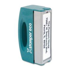 "Xstamper Pre-Inked Stamp - Custom Message Stamp - 0.50"" Impression Width x 2"" Impression Length - 50000 Impression(s)Plastic - Recycled - 1 Each"