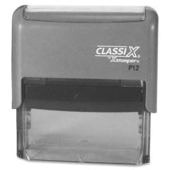 "Xstamper Classix Custom Address Stamps - Custom Message Stamp - 0.75"" Impression Width x 2.37"" Impression LengthPlastic, Rubber - 1 Each"
