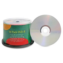 DVD Recordable Media - DVD-R - 16x - 4.70 GB - 50 Pack - 120mm - 2 Hour Maximum Recording Time