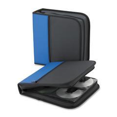 Compucessory CD/DVD Wallet - Wallet - Clamshell - Neoprene - Blue, Black - 128 CD/DVD