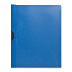 "Sparco Slide Clip Report Cover - Letter - 8 1/2"" x 11"" Sheet Size - 30 Sheet Capacity - Vinyl - Blue, Clear - 1 Each"