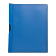 "Slide Clip Report Cover - Letter - 8 1/2"" x 11"" Sheet Size - 30 Sheet Capacity - Vinyl - Blue, Clear - 1 Each"