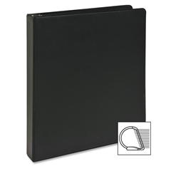 """Sparco Slant Ring Binder - 1"""" Binder Capacity - Letter - 8 1/2"""" x 11"""" Sheet Size - 3 x D-Ring Fastener(s) - Inside Front Pocket(s) - Cardboard, Vinyl - Black - 1 Each"""