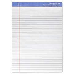 "Sparco Premium-grade Letter Size Legal Pad - 50 Sheets - Printed - Wire Bound - Both Side Ruling Surface - 16 lb Basis Weight - 8.50"" x 11.75"" - White Paper - 1Each"