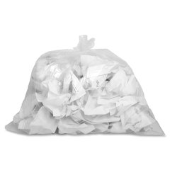 "Genuine Joe Clear Trash Can Liners - Small Size - 10 gal - 24"" Width x 23"" Length x 0.60 mil (15 Micron) Thickness - Low Density - Clear - 500/Box"