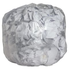 "Clear Trash Can Liners - Medium Size - 33 gal - 33"" Width x 39"" Length x 0.60 mil (15 Micron) Thickness - Low Density - Clear - 250/Box"