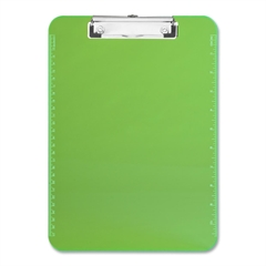 "Sparco Translucent Clipboard - 9"" x 12"" - Low-profile - Plastic - Neon Green"