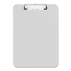 "Sparco Translucent Clipboard - 9"" x 12"" - Low-profile - Plastic - Clear"