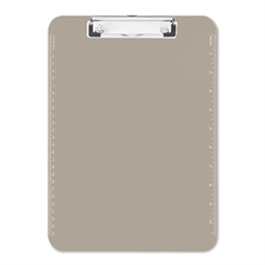 "Sparco Translucent Clipboard - 9"" x 12"" - Low-profile - Plastic - Smoke"