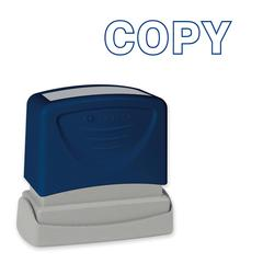 "Sparco Pre-Inked Stamp - Message Stamp - ""COPY"" - 1.75"" Impression Width x 0.62"" Impression Length - Blue - 1 Each"