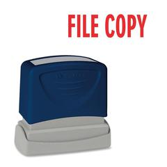 "Pre-Inked Stamp - Message Stamp - ""FILE COPY"" - 1.75"" Impression Width x 0.62"" Impression Length - Red - 1 Each"