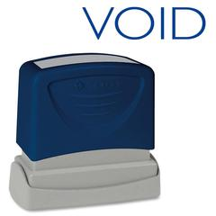 "Sparco Pre-Inked Stamp - Message Stamp - ""VOID"" - 1.75"" Impression Width x 0.62"" Impression Length - Blue - 1 Each"