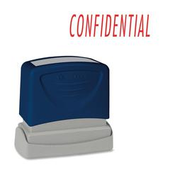 "Sparco CONFIDENTIAL Red Title Stamp - Message Stamp - ""CONFIDENTIAL"" - 1.75"" Impression Width x 0.62"" Impression Length - Red - 1 Each"