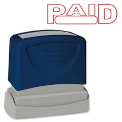 "Sparco Pre-Inked Stamp - Message Stamp - ""PAID"" - 1.75"" Impression Width x 0.62"" Impression Length - Red - 1 Each"