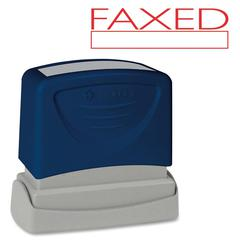 "Sparco FAXED Red Title Stamp - Message Stamp - ""FAXED"" - 1.75"" Impression Width x 0.62"" Impression Length - Red - 1 Each"