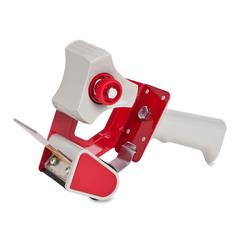Sparco Sealing Tape Dispenser - Holds Total 1 Tape(s) - Refillable - Adjustable Tension Mechanism - Gray, Red