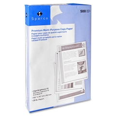 "Sparco Multipurpose Copy Paper - Legal - 8.50"" x 14"" - 20 lb Basis Weight - 92 Brightness - 5000 / Carton - White"