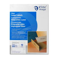 """Shipping Laser Label - 2"""" Width x 4.25"""" Length - Laser - Clear - 500 / Pack"""