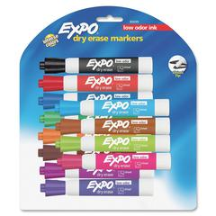 Dry Erase Chisel Point Marker - Chisel Point Style - Assorted - 12 / Set