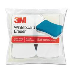 "3M Whiteboard Eraser Pad - Whiteboard Eraser - 3"" Height x 5"" Width - 2/Pack - White, Blue"