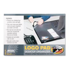 "Logo Pad 41200 Desktop Organizer - Rectangle - 31"" Width x 20"" Depth - Rubber, Plastic - Black"