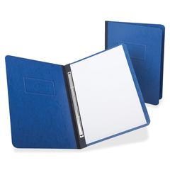 "Oxford PressGuard Report Cover with Reinforced Side Hinge - Letter - 8 1/2"" x 11"" Sheet Size - 3"" Fastener Capacity for Folder - Pressguard - Dark Blue - 1 Each"