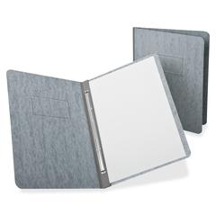 "Oxford Report Cover with Reinforced Side Hinge - Letter - 8 1/2"" x 11"" Sheet Size - Prong Fastener - 3"" Fastener Capacity for Folder - Pressguard - Gray - 1 Each"