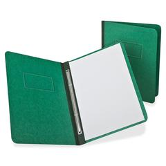 "Oxford PressGuard Rnfrcd Hinge Rprt Covers - Letter - 8 1/2"" x 11"" Sheet Size - Prong Fastener - 3"" Fastener Capacity for Folder - Pressguard - Dark Green - 1 Each"