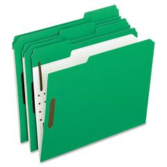 "Pendaflex Color Reinforced Top Fastener Folders - Letter - 8 1/2"" x 11"" Sheet Size - 2"" Expansion - 2 Fastener(s) - 1"" Fastener Capacity for Folder - 1/3 Tab Cut - Assorted Position Tab Location - Gre"