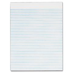 "Recycled White Gum Narrow Ruled Legal Pad - 50 Sheets - Printed - Glue - Letter 8.50"" x 11"" - White Paper - 12 / Pack"