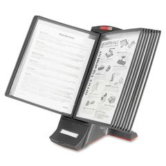 """Master Products view Desktop Catalog Stand - Desktop - 12 Panel/Pocket - Support Letter 8.50"""" x 11"""", A4 8.27"""" x 11.69"""" Media - Expandable, Removable Sleeve - 9.5"""" Height x 14.5"""" Width x 12"""" Depth - 1"""