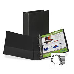 "Samsill Angle-D Ring Binder - 1"" Binder Capacity - Letter - 8 1/2"" x 11"" Sheet Size - 3 x D-Ring Fastener(s) - Inside Front Pocket(s) - Black - Recycled - 1 Each"