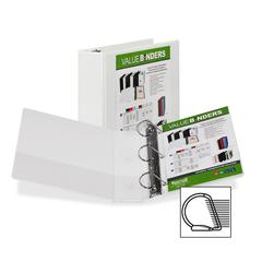 """Samsill Insertable D-Ring Binder - 4"""" Binder Capacity - Letter - 8 1/2"""" x 11"""" Sheet Size - 3 x D-Ring Fastener(s) - White - Recycled - 1 Each"""