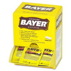 Bayer Aspirin Single Dose Packets - For Pain - 50 / Box