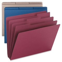 """Organizer Folders - 9 1/2"""" x 11 1/4"""" Sheet Size - 85 Sheet Capacity - 3/4"""" Expansion - 1/3 Tab Cut - Assorted - Recycled - 3 / Pack"""