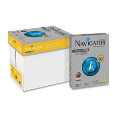 "Navigator Platnium Office Multipurpose Paper - Letter - 8.50"" x 11"" - 32 lb Basis Weight - 0% Recycled Content - Smooth - 99 Brightness - 2000 / Carton - Bright White"
