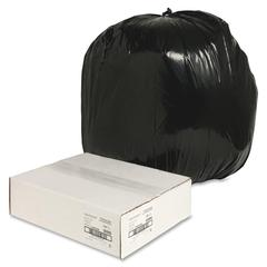 "Trash Liner - Large Size - 45 gal - 40"" Width x 46"" Length x 1.25 mil (32 Micron) Thickness - Low Density - Black - Plastic - 100/Carton - Cleaning Supplies"