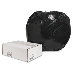 "Trash Liner - Extra Large Size - 56 gal - 43"" Width x 48"" Length x 1.25 mil (32 Micron) Thickness - Low Density - Black - Plastic - 100/Box - Cleaning Supplies"