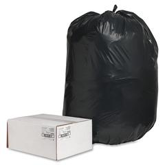 "Nature Saver Black Low-density Recycled Can Liners - Extra Large Size - 60 gal - 38"" Width x 58"" Length x 2 mil (51 Micron) Thickness - Low Density - Black - Plastic - 100/Carton - Cleaning Supplies"