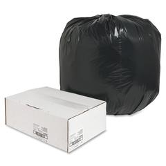 "Nature Saver Trash Liner - Large Size - 45 gal - 40"" Width x 46"" Length x 1.65 mil (42 Micron) Thickness - Low Density - Black - Plastic - 100/Box - Cleaning Supplies"